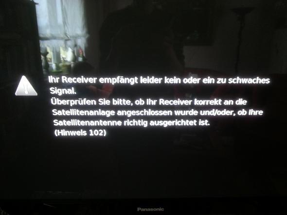 Fehlermeldung des Receivers - (Technik, TV, Fernsehen)