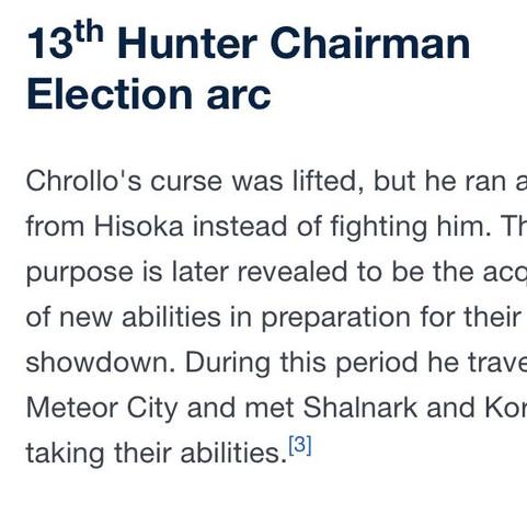 Das ist der englische Wikieintrag - (Anime, Manga, Hunter X Hunter)