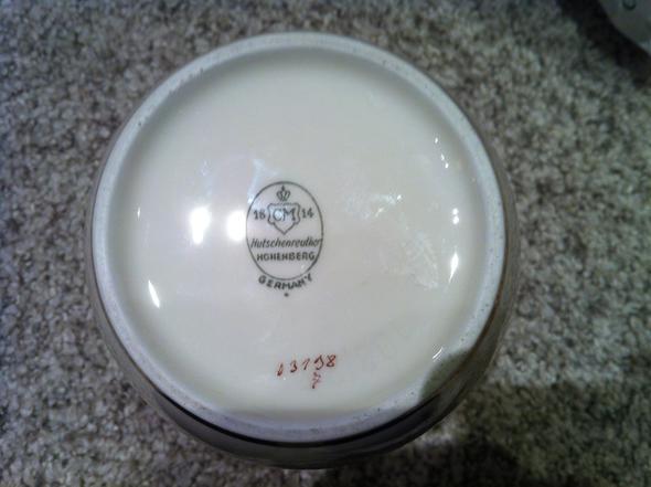 Bodenseite mit Hinweis - (Porzellan, vase, Hutschenreuther)