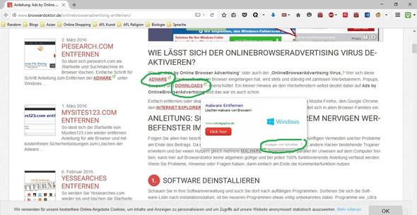 Beliebige Seite mit Hyperlinks  - (Internet, Werbung)