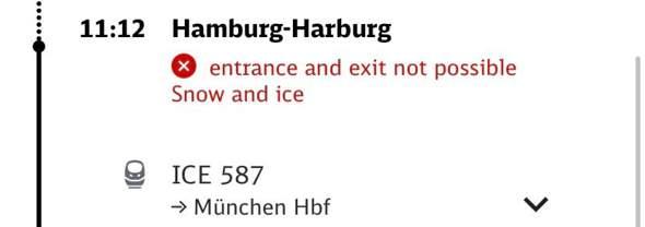 ICE Ein und Ausstieg nicht möglich?