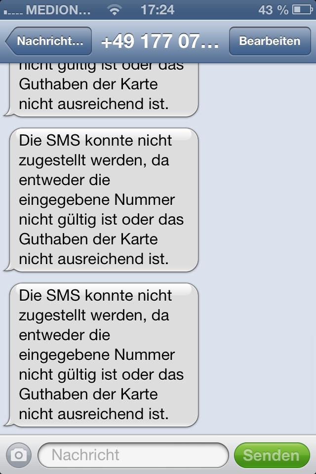 Ich bekomme immer wieder die selbe SMS was NUN? (Handy)