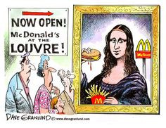 Karikatur von Dave Grunland - (Schule, deutsch, Englisch)