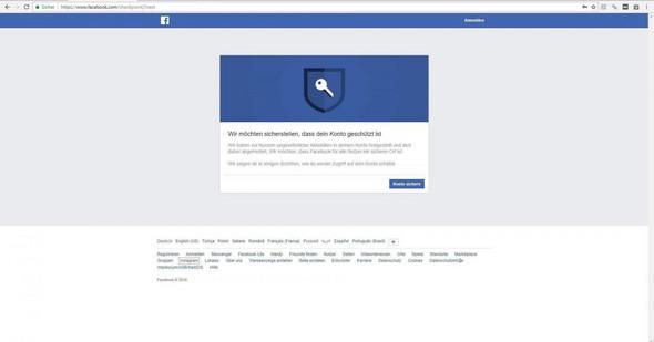 - (Computer, Facebook, Sperre)