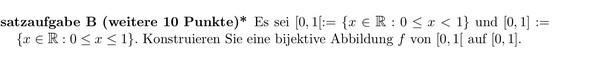 Doofe Aufgabe - (Mathematik, Bijektiv)
