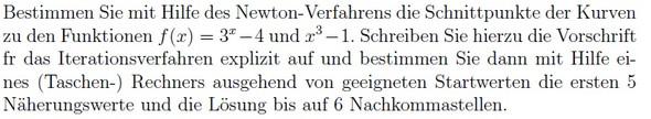 Frage - (Mathematik, Kurvendiskussion, newton-verfahren)