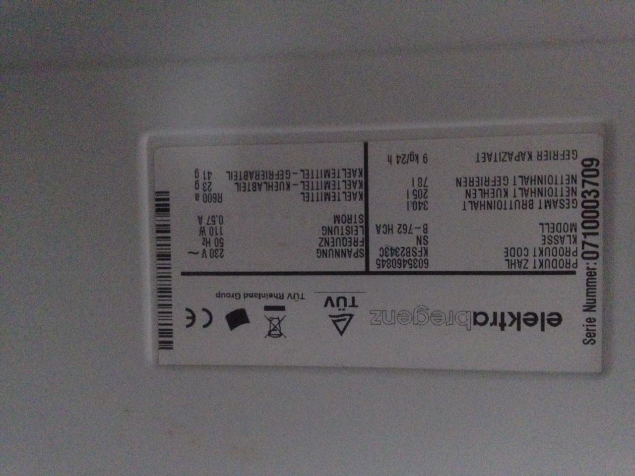 Bosch Kühlschrank Tür Wechseln : Ich bräuchte hilfe mit meinem elektra bregenz kühlschrank