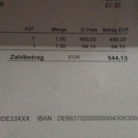 Rechnung - (Zahlung, Krangenwagen)