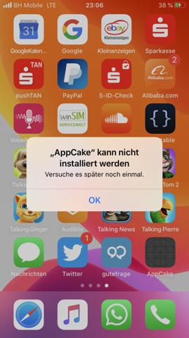 Ich brauche Hilfe bei Apps installieren und es will nicht?