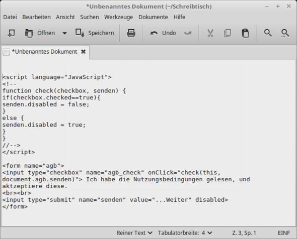 Das Skript - (programmieren, Website, Homepage)