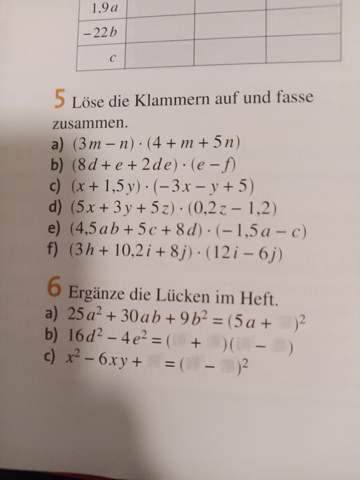 Ich brauche Hilfe ich Mathe? Klammer auflösen und zusammenfassen?