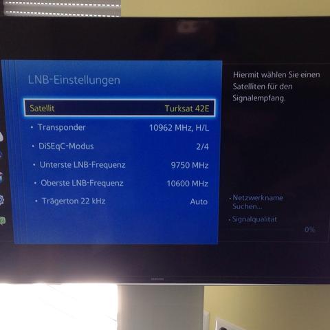 Lnb einstellungen - (TV, türksat)