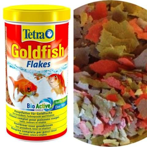 Ich frage mich wie man von so ein paar Blättchen Satt wird als Goldfisch?