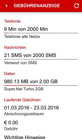 My tele.ring - (Datenvolumen, Android 6 CM13)
