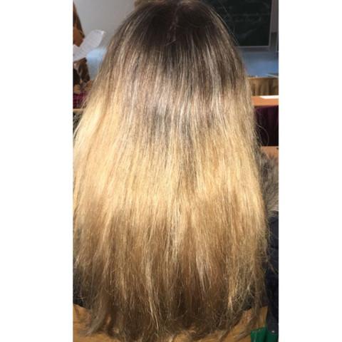 Von Braun Auf Blond Haare Kaputt Mittellange Haare