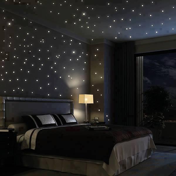 Ich hab hier ein Bild von einem Schlafzimmer mit kleinen Leuchten ...