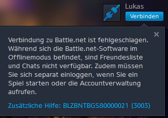 Das kommt bei Battle.net - (Internet, Steam, proxy)
