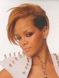Rihanna Sidecut - (peinlich, kurze haare, sidecut)