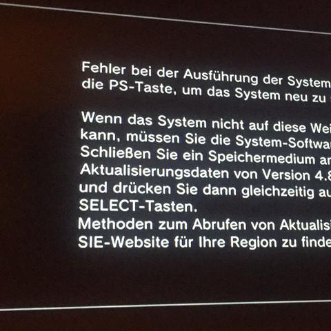 Das ist der eine Teil der Meldung  - (PS3, Festplatte)