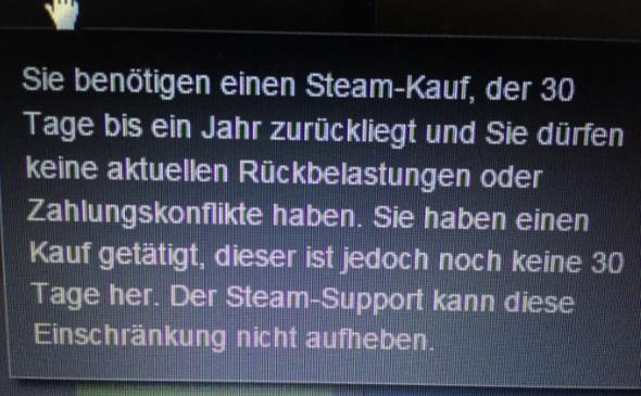 Und das steht unter mehr erfahren. - (Steam, Support, Community-Markt)