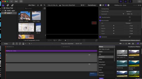 Hier noch ein Bild - (Videobearbeitung, Final Cut Pro)