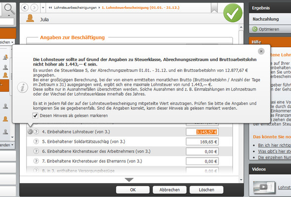 WISO - (Steuern, Lohnsteuer, Lohnsteuerklärung)