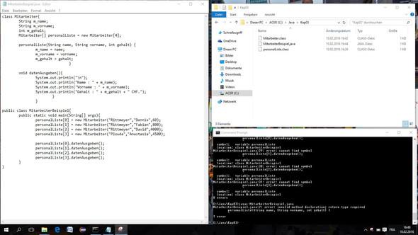- Eingabeaufforderung(mit Fehlermeldung) - (programmieren, Java, Array)
