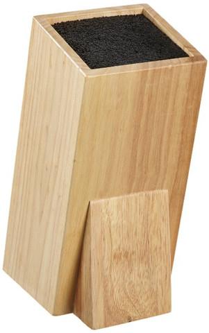 Ich habe einen Universal Messerblock. Außen Holz und die Füllung ist aus Kunststoff. Dort kann man die Messer reinstecken. Wie reinige ich den Innenteil?