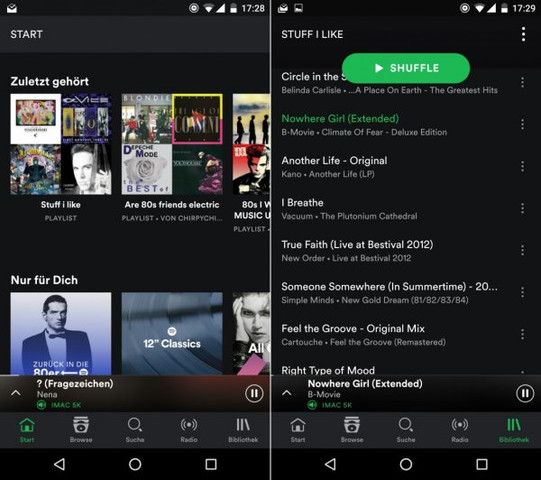 Neues Design - (Musik, Android, Spotify)