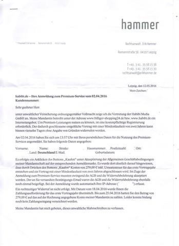 Bild 1  - (Rechnung, Habibi.de )