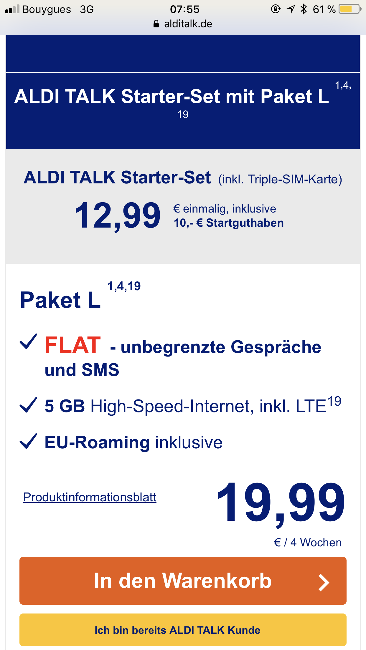 ich habe mir diesen aldi talk paket gekauft f r 19 99 ist. Black Bedroom Furniture Sets. Home Design Ideas