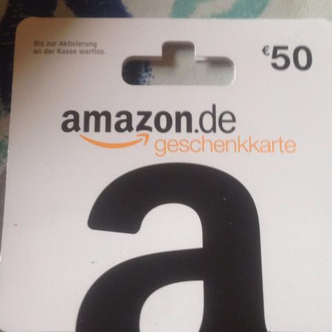amazon karte Ich habe mir eine Amazon Geschenkkarte in Wert von 50 € gekauft