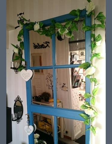 Da - (Haus, Dekoration, Rosen Girlande wand)