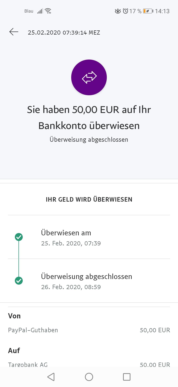 Paypal Geld Гјberweisen Dauer