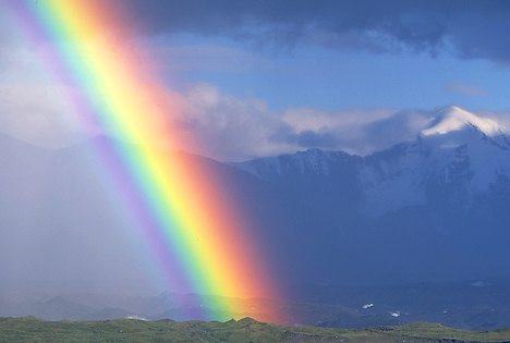 Regenbogen mit anderer Farbe - (Wissenschaft, Regenbogen, farblehre)