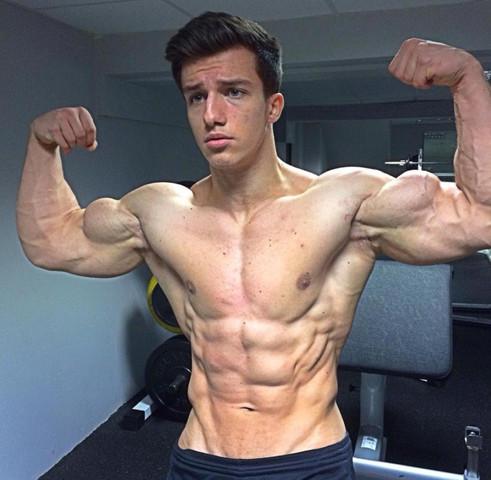 sexy Muskel Mädchen nackt