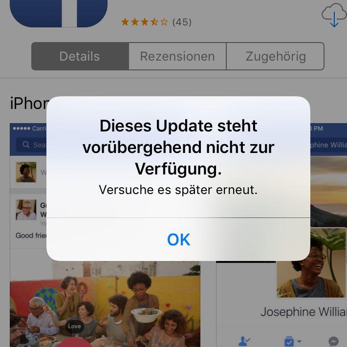 Facebook App Geht Nicht