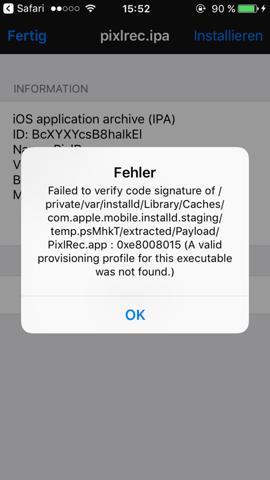 Ich kann keine Apps installieren?
