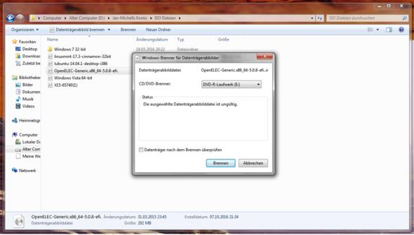 Mein Problem mit dem Image - (Windows, Software, Linux)