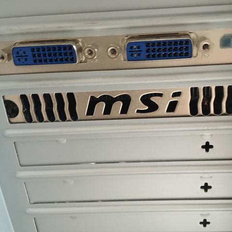 PC hinten - (PC, Minecraft, Bildschirm)