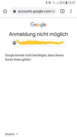Ich kann mich nicht bei meiner gmail anmelden?