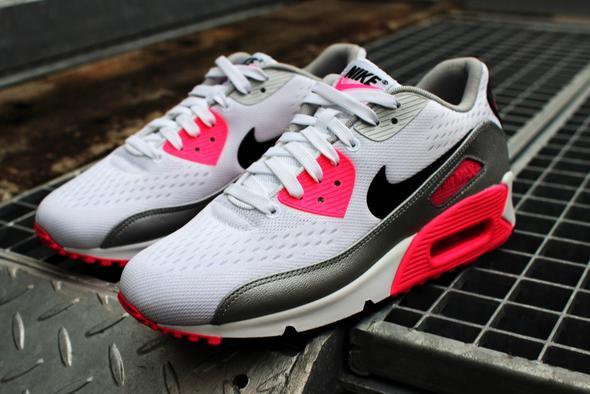 Nike Air Max 90 Weiß/Silber/Pink - (Schuhe, Nike, free)