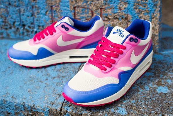 Nike Air Max 1 Weiß/Pink/Blau - (Schuhe, Nike, free)
