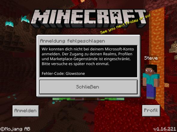 Ich kann mich nicht mehr mit meinen Minecraft Konto anmelden?