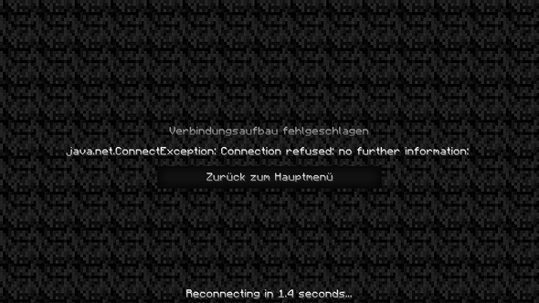 java.net.ConnectException: Connection refused: no further information - (Computer, Internet, Minecraft)