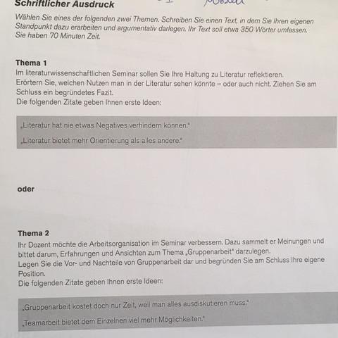 ich kann nicht mal einen text schreiben deutsch psychologie sprache - Literarische Erorterung Beispiel