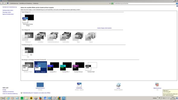 So sieht es aus. - (Windows 7, Design, Aero)