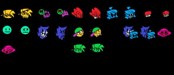 Ich mache eine Friday Night Funkin' Mod. Wie findet ihr die Sprites für die Icons?
