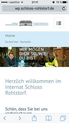 Das ist die Homepage vom Internat - (Internat, eltern-ueberzeugen)