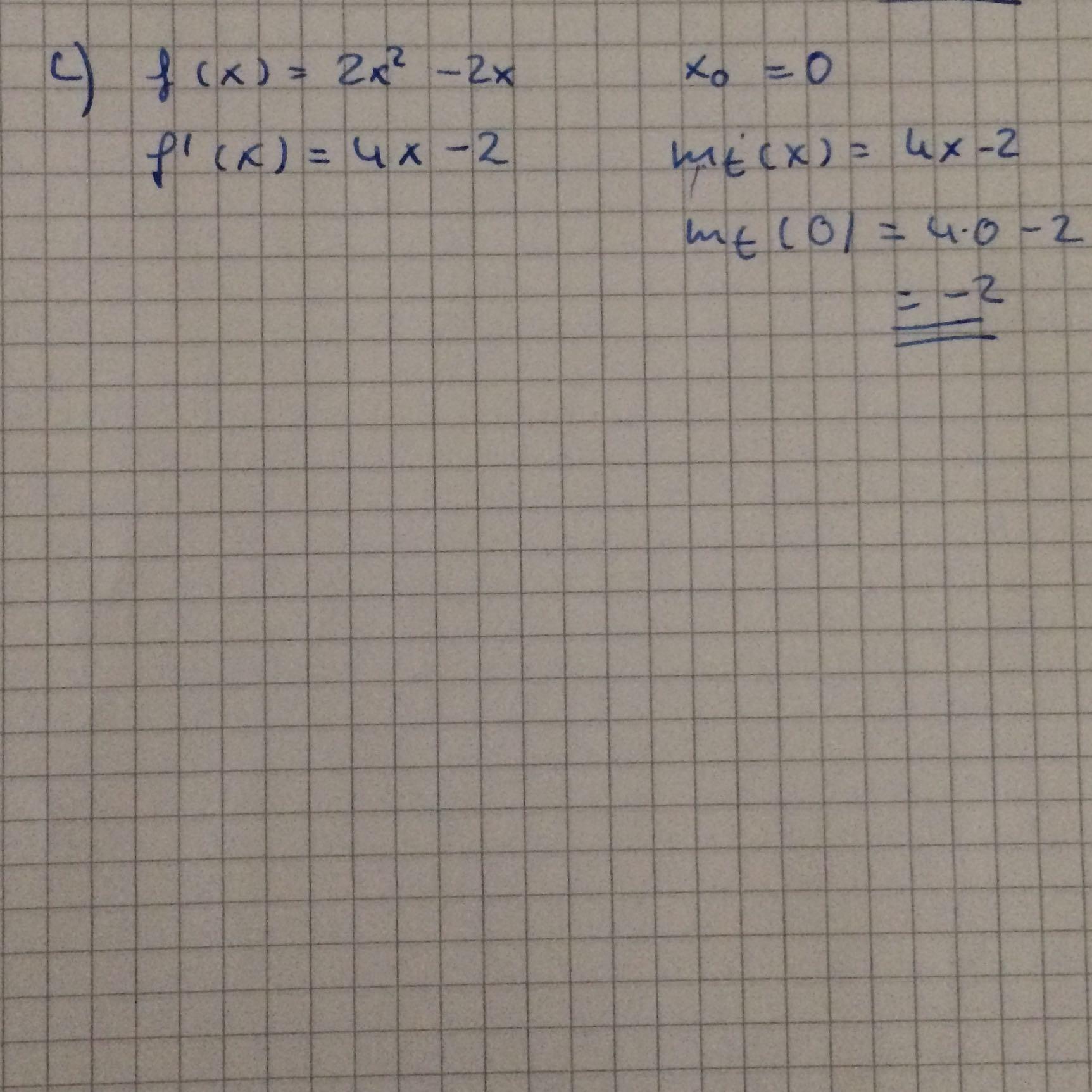 0 Stellen Berechnen : ich sollte die steigung an der stelle x0 berechnen mathe mathematik gleichungen ~ Themetempest.com Abrechnung